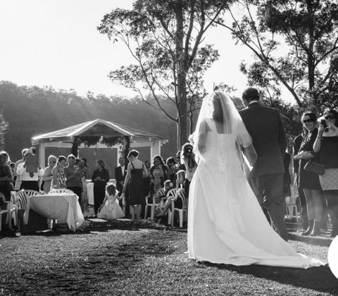 The amazing ceremony venue - right beside Hawksberry River