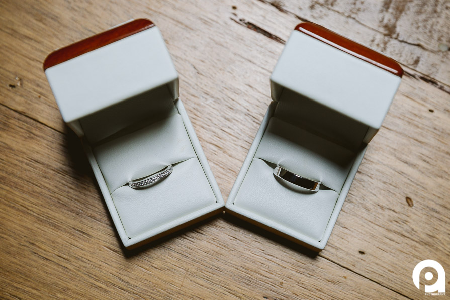 Wedding Rings and timber always look great together!
