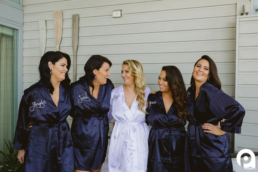 """This looks like one of those posed wedding """"laughing"""" photos - but it was all real laughs here! Such a great group of girls."""
