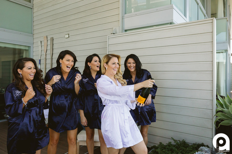Nothing says bridesmaids like champagne!