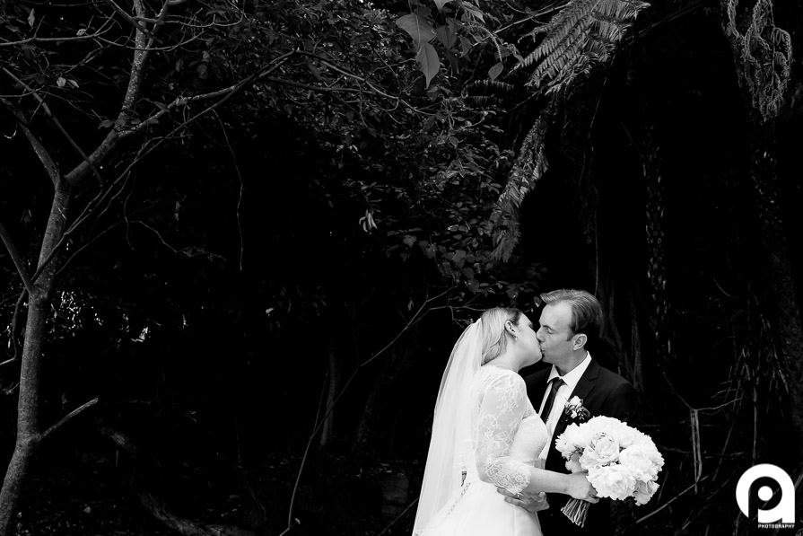 B&W traditional wedding image, with a little flare.