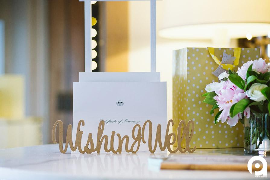 Wishing Well & Gift table