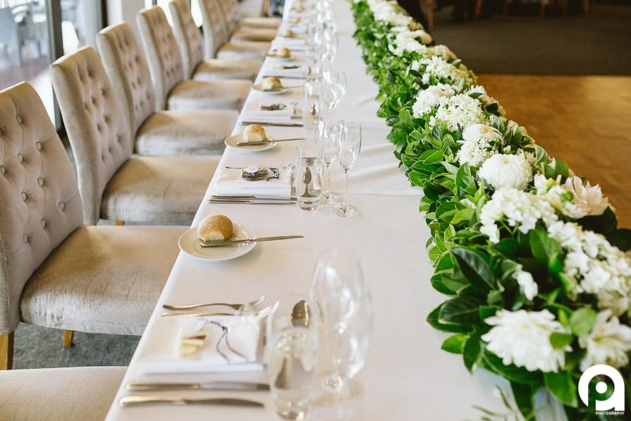 Bridal table at Sergeants Mess