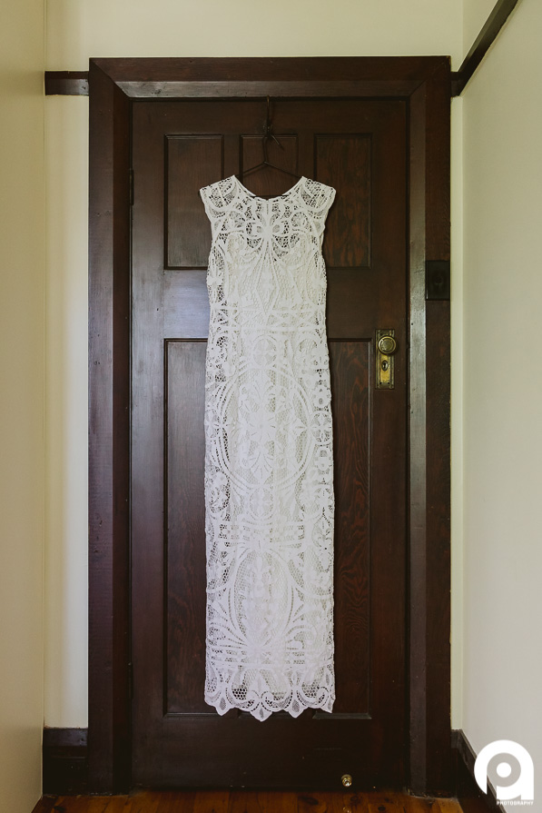 The stunning dress by Lost in Paris. It's handmade with 80 year old lace. Such a classic look.