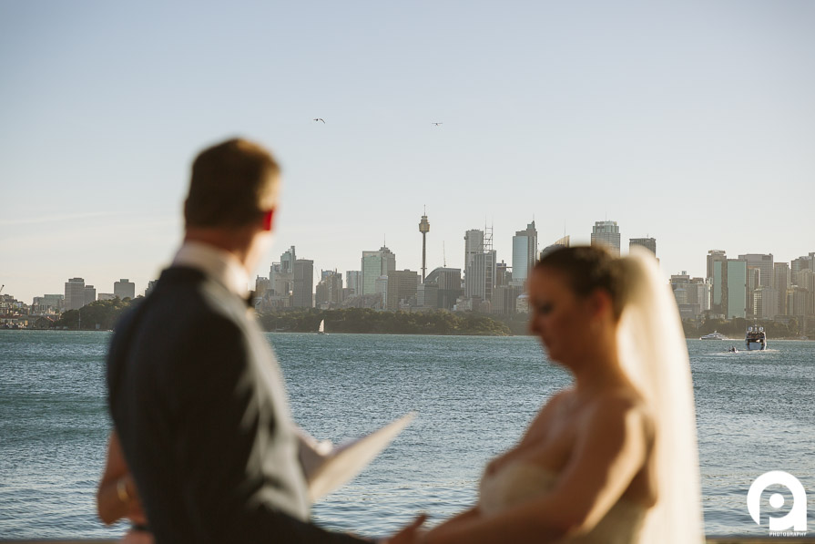 With a scene like this, it's hard to NOT get married on Sydney harbour!