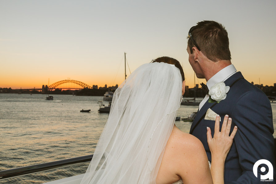 Sydney Harbour wedding sunset