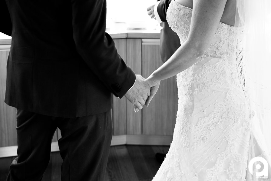 A classic B&W wedding image just prior to the ceremony