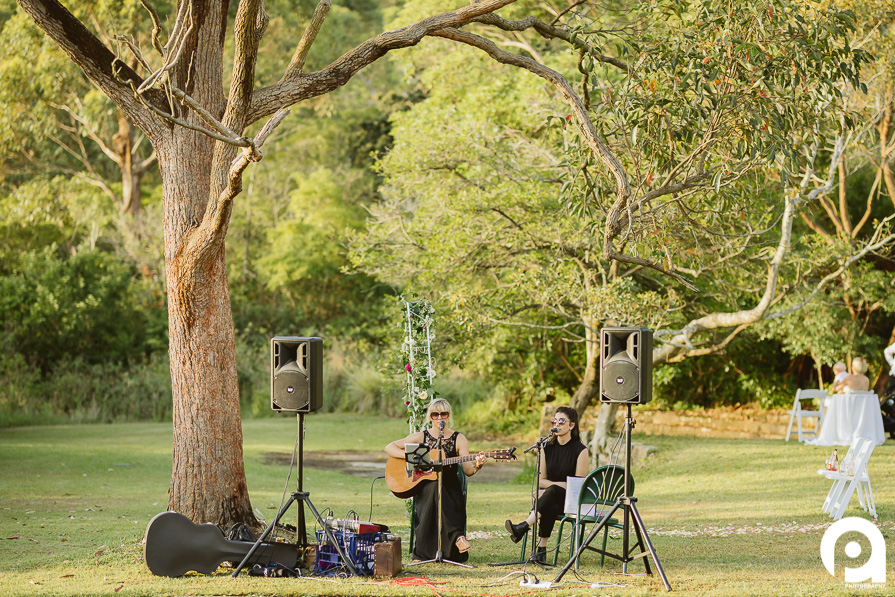 Live music is always a great addition to an outdoor wedding.