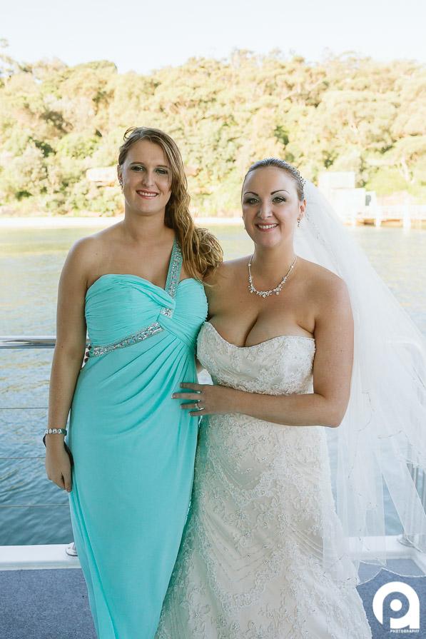Sarah and her bridesmaid