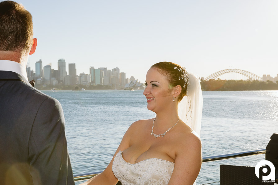 A truly glowing bride during her ceremony