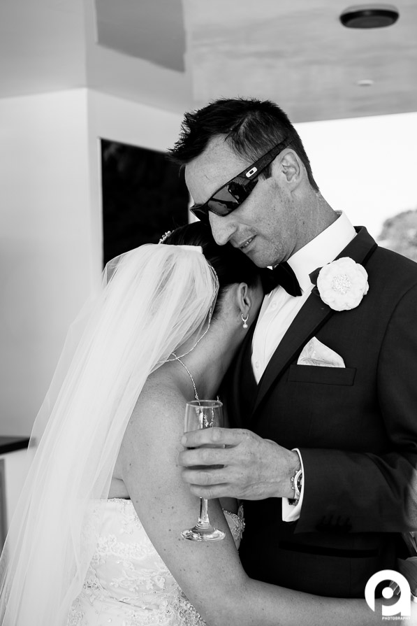 A special moment between bride & groom